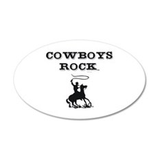 Cowboys Rock 20x12 Oval Wall Decal