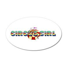 CPM Carnival Girl 22x14 Oval Wall Peel