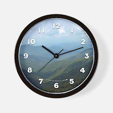 Blue Ridge Mountains Craggy Gardens NC Wall Clock