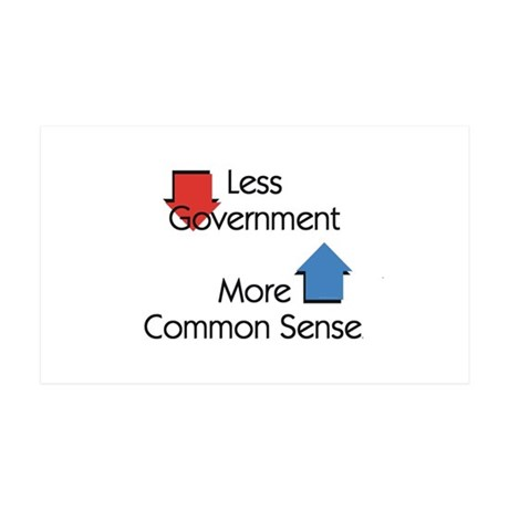Less Government 35x21 Wall Decal