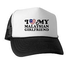 I Love My Malaysian Girlfriend Trucker Hat