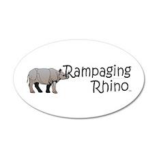 Rampaging Rhino Wall Decal