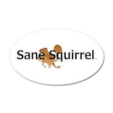 Sane Squirrel 22x14 Oval Wall Peel