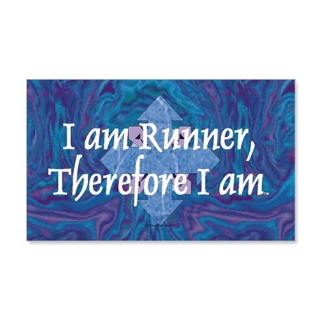 I Am Runner 20x12 Wall Decal