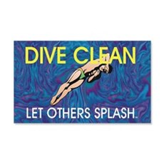 Dive Clean Wall Decal