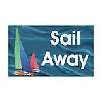 TOP Sail Away 35x21 Wall Decal