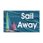 TOP Sail Away 20x12 Wall Decal