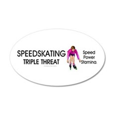 Speedskating Slogan 22x14 Oval Wall Peel
