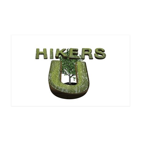 Hikers University 35x21 Wall Decal