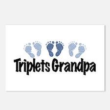 Triplets Grandpa (Boys) Postcards (Package of 8)