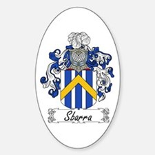 Sbarra Family Crest Oval Decal