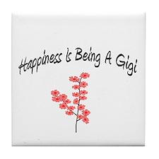 Unique Great grandma (happiness) Tile Coaster