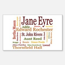 Jane Eyre Characters Sticker (Rectangle)