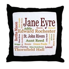 Jane Eyre Characters Throw Pillow