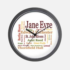 Jane Eyre Characters Wall Clock
