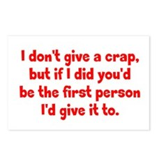 Don't Give a Crap Postcards (Package of 8)