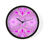 BUTTERFLY SERIES:  Pink Butterflies W.Clock