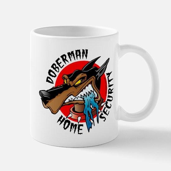 Doberman Home Security Mug
