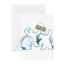 Funny Polar bears Greeting Cards (Pk of 20)