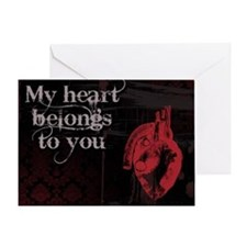 Gothic Heart belongs to you Greeting Card