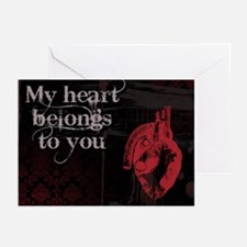Gothic Heart belongs to you Greeting Cards (Pk of
