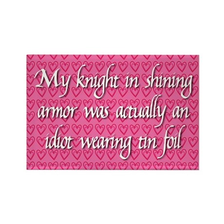 Knight in Shining Armor Rectangle Magnet