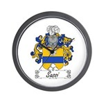 Sassi Family Crest Wall Clock