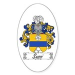 Sassi Family Crest Oval Sticker