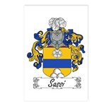 Sassi Family Crest Postcards (Package of 8)