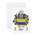 Sassi Family Crest Greeting Cards (Pk of 10)