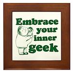 Embrace Your Inner Geek Framed Tile