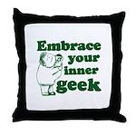 Embrace Your Inner Geek Throw Pillow