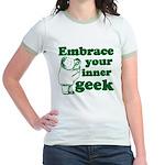 Embrace Your Inner Geek Jr. Ringer T-Shirt
