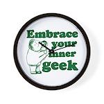 Embrace Your Inner Geek Wall Clock