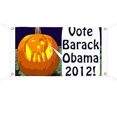Pumpkins for Obama 2012 Banner