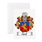 Sardi Family Crest Greeting Cards (Pk of 10)