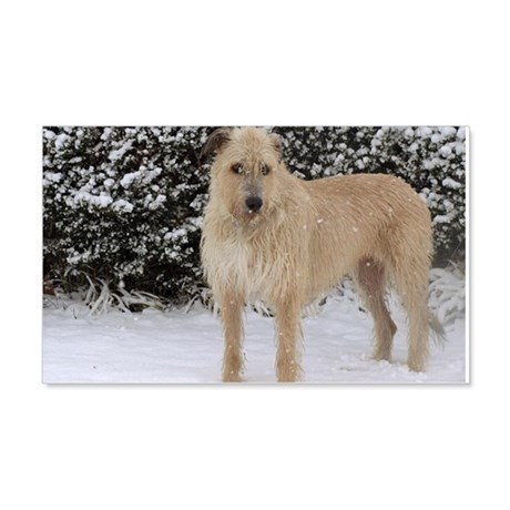 Wolfhound posed in snow 22x14 Wall Peel