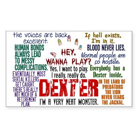 Best Dexter Quotes Sticker (Rectangle)