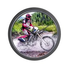 """Mountain Trail Riding"" Wall Clock"