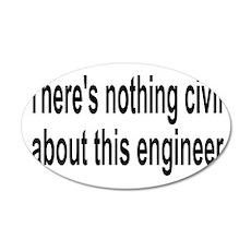 Civil Engineer 22x14 Oval Wall Peel