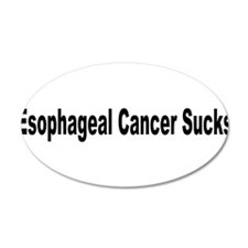 Esophageal Cancer Sucks 38.5 x 24.5 Oval Wall Peel