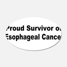 Proud Survivor 22x14 Oval Wall Peel