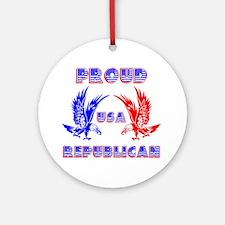 Proud USA Republican Ornament (Round)