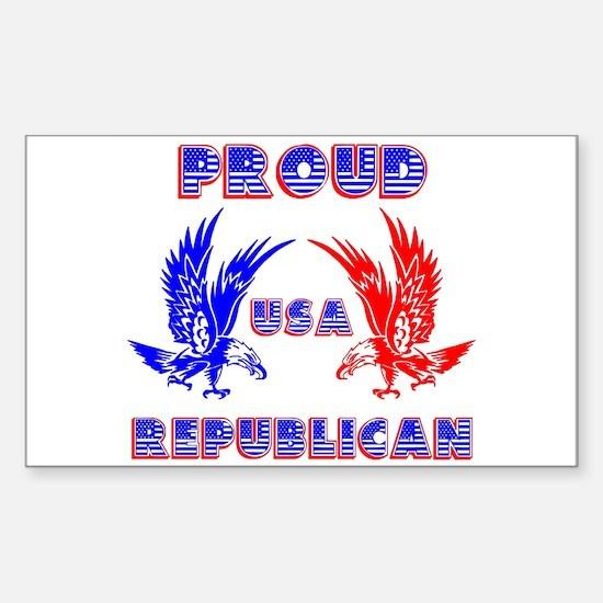 Proud USA Republican Rectangle Decal