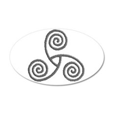 Celtic Triple Spiral 22x14 Oval Wall Peel