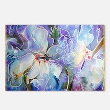 Magnolias, beautiful, art, Postcards (Package of 8