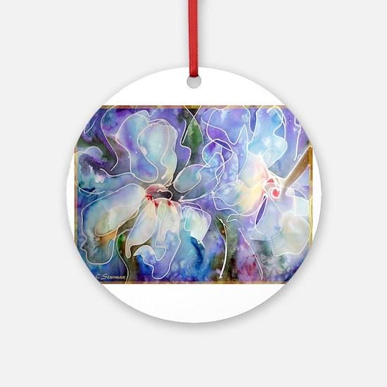 Magnolias, beautiful, art, Ornament (Round)