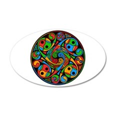 Celtic Stained Glass Spiral 22x14 Oval Wall Peel