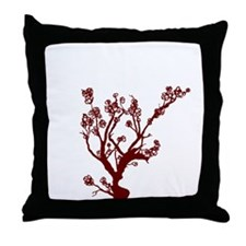 Funny Sakura Throw Pillow