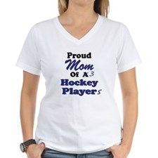 Mom 3 Hockey Players Shirt